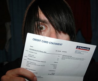 hipster credit card bill
