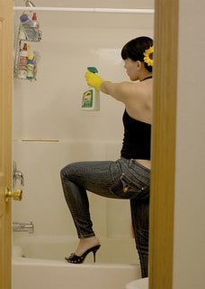 Cleaning in High Heels