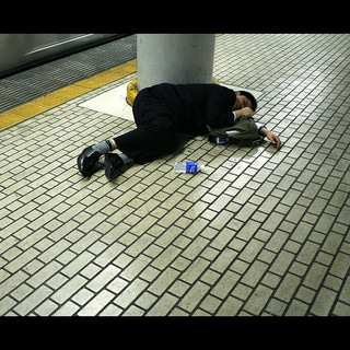 Man Passed Out on Subway Platform