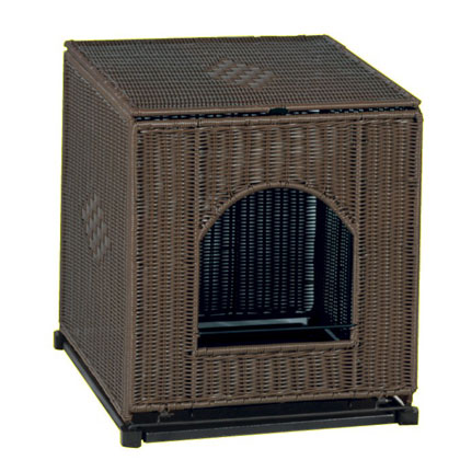 wicker cat litter box cover